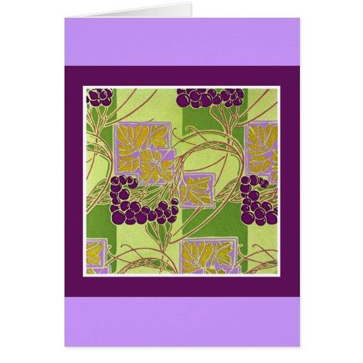 Nouveau Grapes Greeting Cards