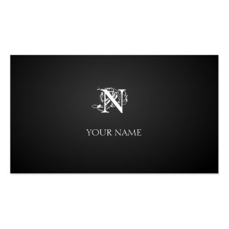 Nouveau graphite business card template