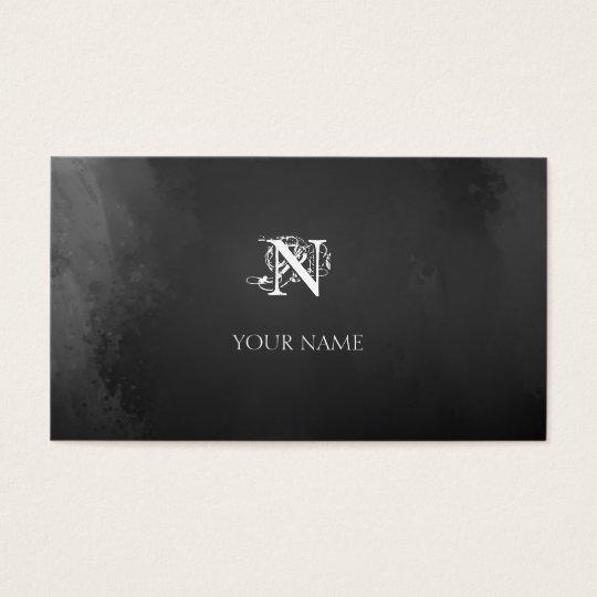 Nouveau Gray Business Card