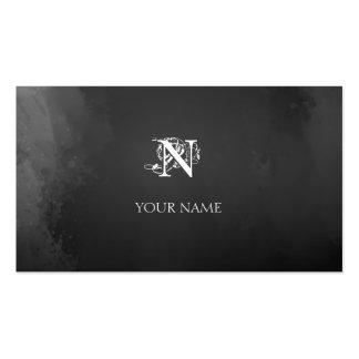 Nouveau Gray Business Card Template