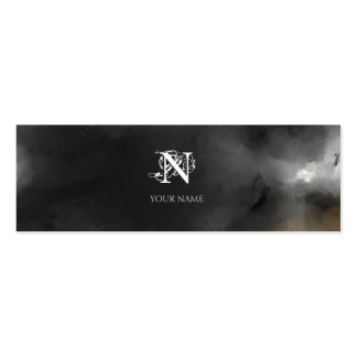 Nouveau Gray Small Business Card Template
