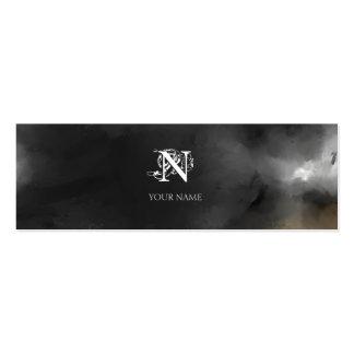 Nouveau Gray Small Mini Business Card