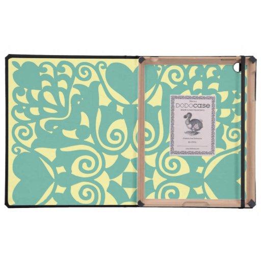 Nouveau Hearts and Flowers iPad Case