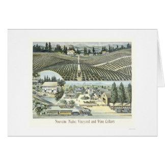 Nouveau Medoc Vineyard and Wine Cellars Card