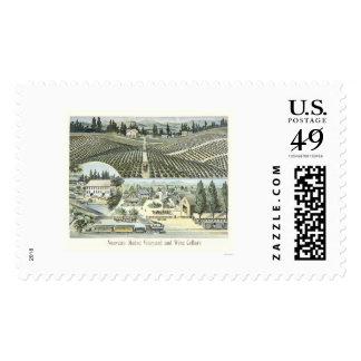 Nouveau Medoc Vineyard and Wine Cellars Postage Stamp