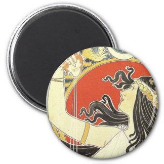 Nouveau oriental amargo del arte imán redondo 5 cm