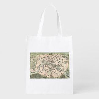 Nouveau Paris Monumental Map Grocery Bags