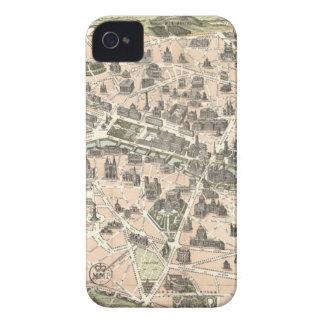 Nouveau Paris Monumental Map iPhone 4 Case-Mate Cases