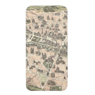 Nouveau Paris Monumental Map iPhone 5 Pouch