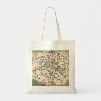 Nouveau Paris Monumental Map Tote Bag