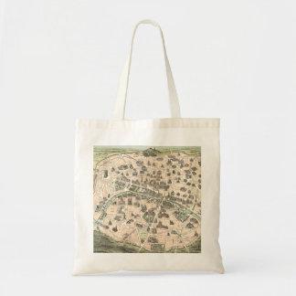 Nouveau Paris Monumental Map Tote Bag