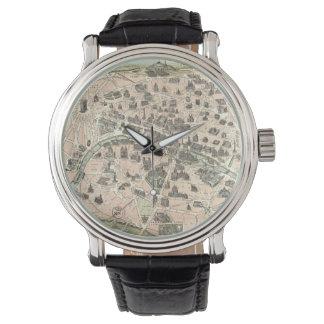 Nouveau Paris Monumental Map Wristwatch