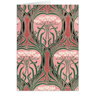 Nouveau Pink and Green Card