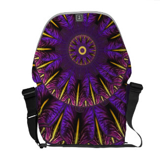 Nouveau Purple Iris Window 2 Messenger Bag