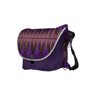 Nouveau Purple Iris Window Messenger Bag