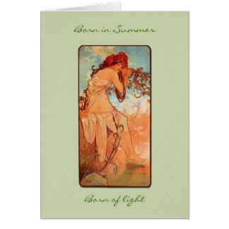 Nouveau Summer Girl Birthday Card