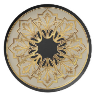 Nouveau Taupe Pattern Dinner Plate