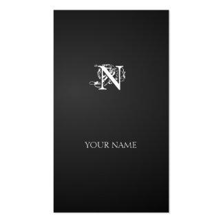 Nouveau vertical line business card template