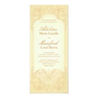 Nouveau Victorian: Pale Gold Fancy Wedding Card