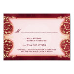 Nouveau Victorian: Red & Gold RSVP Card
