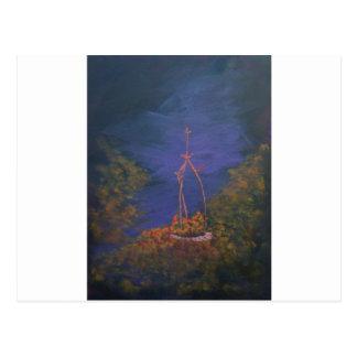 Nouveau Well at twilight Postcards
