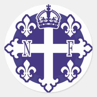 Nouvelle-France, l'Amerique du Nord Classic Round Sticker