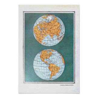 Nouvelle Geographie Universelle Map Poster