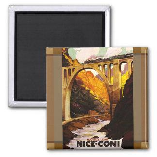 Nouvelle Ligne de Nice à Coni via Tende 2 Inch Square Magnet
