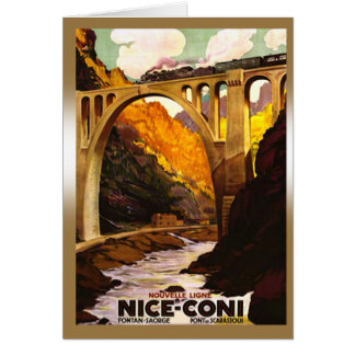 Nouvelle Ligne de Nice à Coni via Tende Greeting Cards