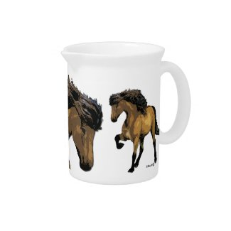 icelandic horse porcelain beverage pitcher 19 ounce