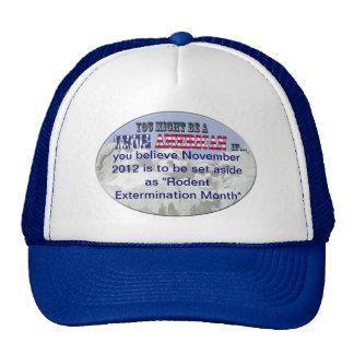 """nov. 2012 """"rodent extermination month"""" trucker hat"""