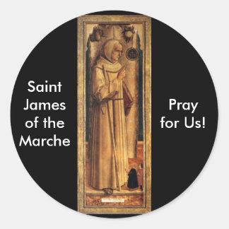 Nov 28 St. James of the Marche Classic Round Sticker