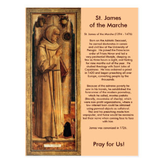 Nov 28 St. James of the Marche Postcard