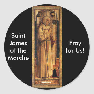 Nov 28 St. James of the Marche Round Stickers