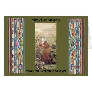 Nov 29 Servant of God John of Monte Corvino Card