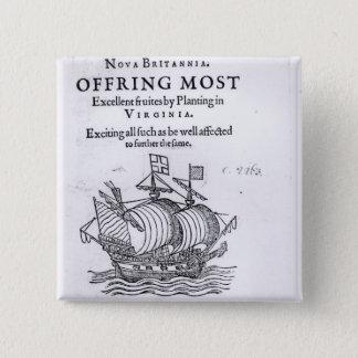 Nova Britannia. Offring Most Excellent Fruites Button