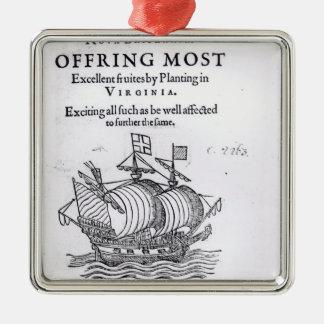 Nova Britannia. Offring Most Excellent Fruites Metal Ornament