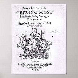 Nova Britannia. Offring Most Excellent Fruites Poster
