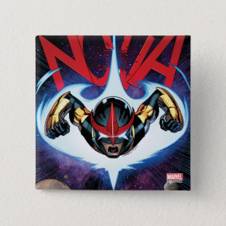 Nova Flying At Top Speed Pinback Button