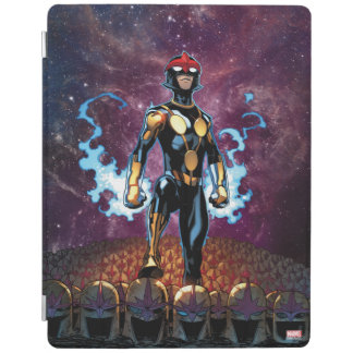 Nova Over Fallen Nova Corps Helmets iPad Smart Cover