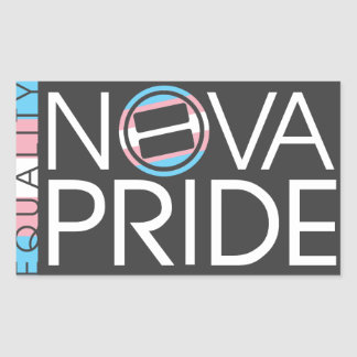NOVA Pride Transgender Logo - Rectangle Rectangular Sticker
