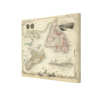 Nova Scotia And Newfoundland Canvas Print