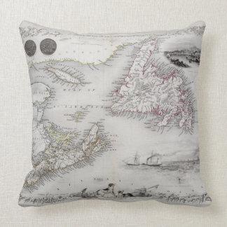 Nova Scotia and Newfoundland, from a Series of Wor Throw Pillows