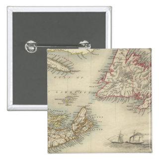 Nova Scotia And Newfoundland Pinback Button