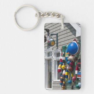 Nova Scotia, Canada. Buoy shop in  Blue Rocks in Double-Sided Rectangular Acrylic Keychain