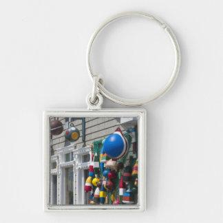 Nova Scotia, Canada. Buoy shop in  Blue Rocks in Silver-Colored Square Keychain