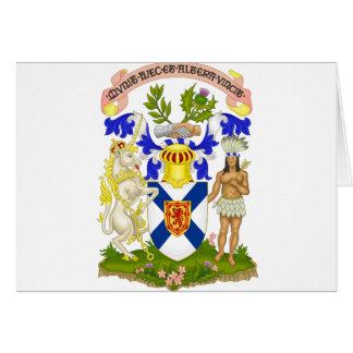 Nova Scotia (Canada) Coat of Arms Greeting Card
