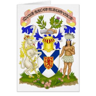 Nova Scotia (Canada) Coat of Arms Card