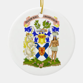 Nova Scotia (Canada) Coat of Arms Double-Sided Ceramic Round Christmas Ornament