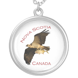 nova scotia, canada round pendant necklace